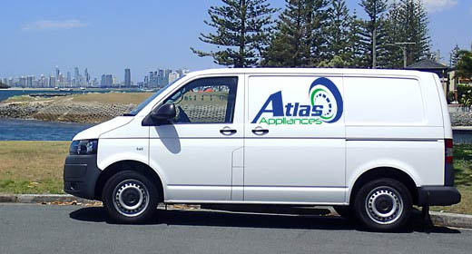 Atlas Appliances service van